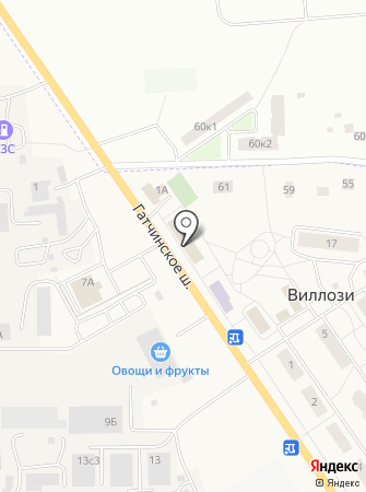 Кафе на ул. Виллози на карте