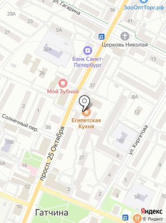 Магазин канцтоваров на проспекте 25 Октября на карте