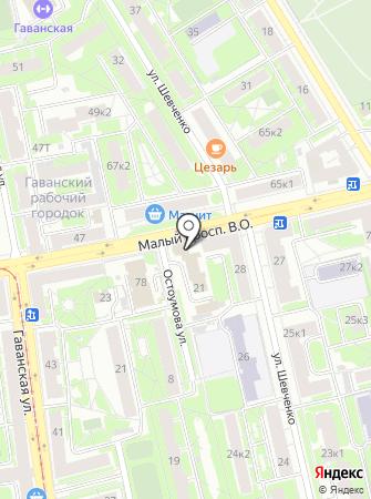 Отдел надзорной деятельности Василеостровского района на карте