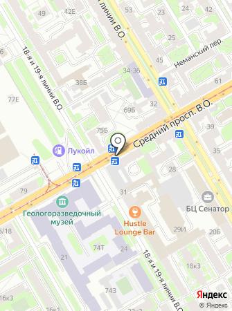 Санкт-Петербургская картографическая фабрика на карте