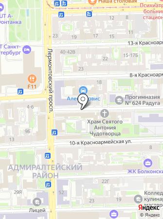 Отдел надзорной деятельности и профилактической работы Адмиралтейского района на карте
