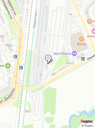 Автомойка на Ленинградской (Всеволожский район) на карте