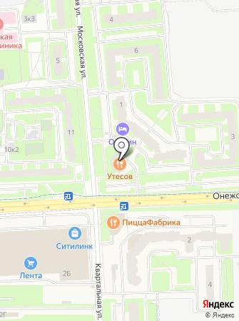 Приневское на карте