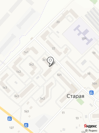 Магазин строительных материалов на Верхней на карте