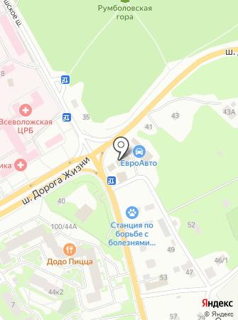 Магазин автоэмалей и автокрасок на Колтушском шоссе на карте