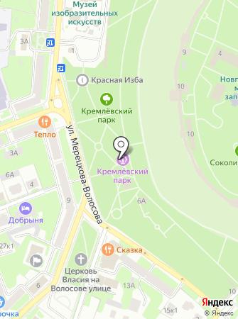 Парки Великого Новгорода, МАУ на карте