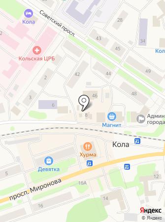Прокуратура по надзору за соблюдением законов в исправительных учреждениях Мурманской области на карте
