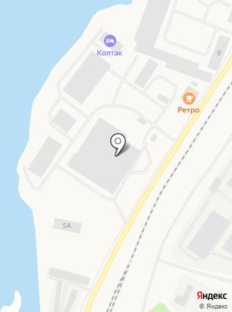 Колтак на карте