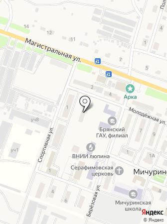Общежитие, Брянская государственная сельскохозяйственная академия на карте