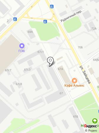 НФС на карте