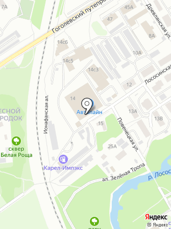 Колесо-птз на карте