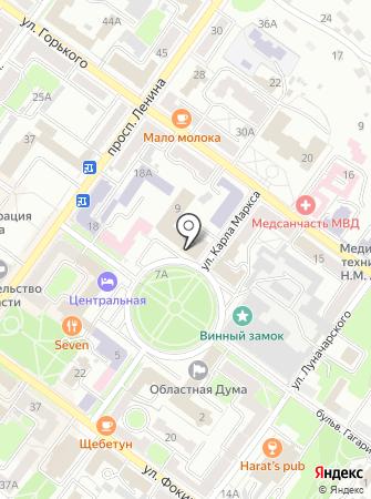 Управление Федеральной почтовой связи Брянской области на карте