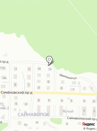 Новый Сайнаволок на карте
