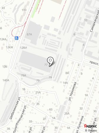 Линокор на карте