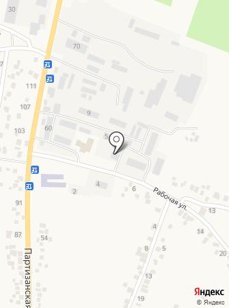 Почтовое отделение №22 пос. Подгородное на карте