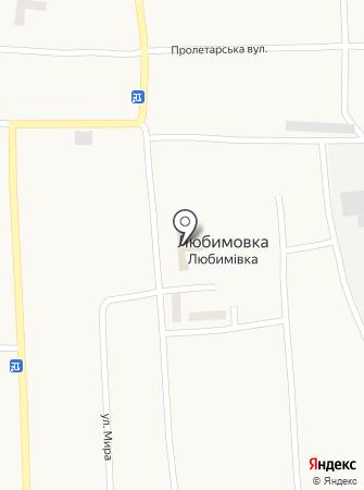 Любимівська середня загальноосвітня школа на карте