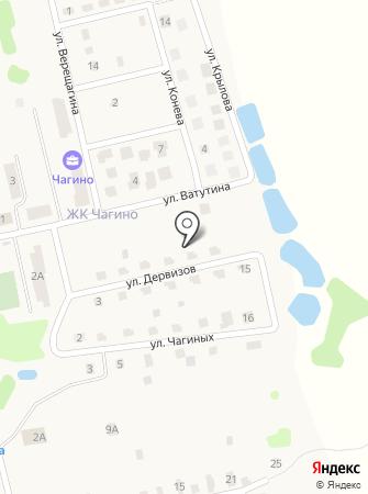 Чагино Тверь на карте