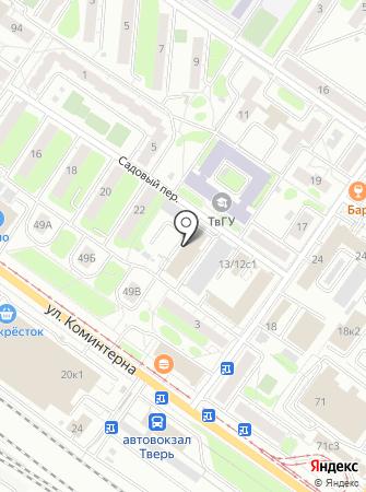 Тверская служба эвакуации и грузоперевозок на карте