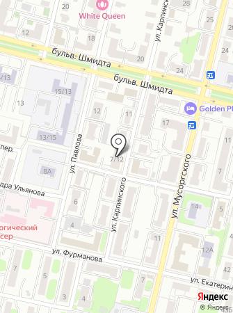 Тополь на карте