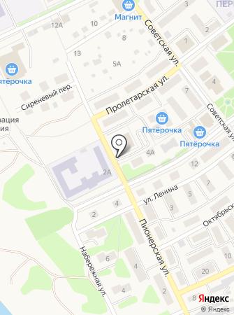 Автостоянка на ул. Ленина на карте