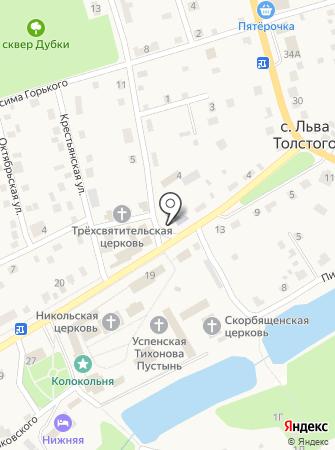 Льва Толстовкая сельская библиотека на карте