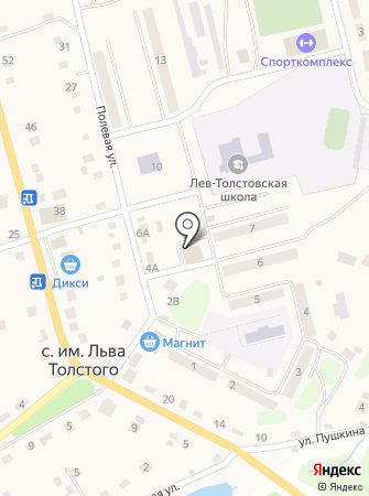 Промтовары на ул.Полевая, д. 7а на карте
