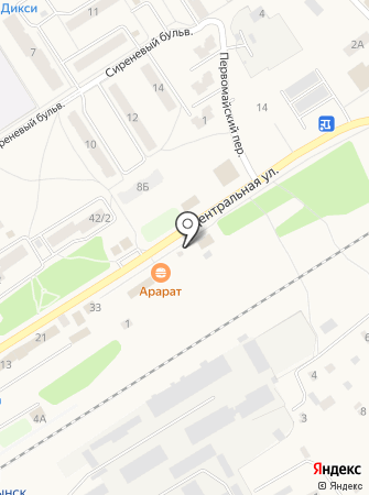 Магазин автозапчастей на Центральной на карте