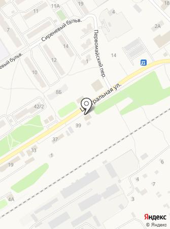 Торговый дом на Центральной на карте