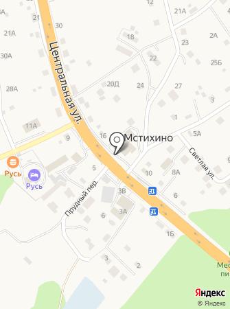 Мстихинский на карте