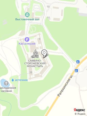 Звенигородский историко-архитектурный и художественный музей на карте