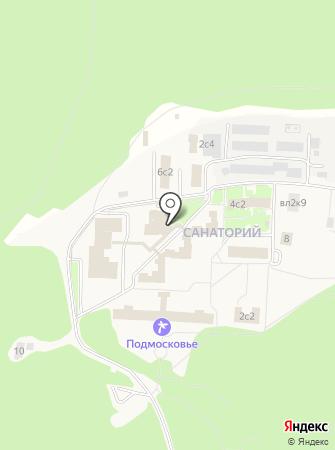 Подмосковье на карте