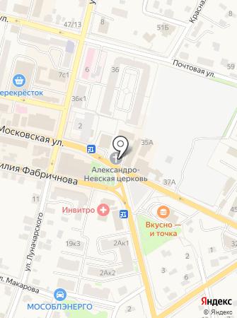 Храм Александра Невского в Звенигороде на карте