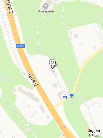Звенигород на карте