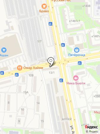 Магазин хлебобулочных изделий на ул. Андреевка пос на карте