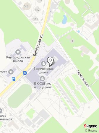 Зареченская средняя общеобразовательная школа на карте
