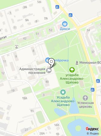 Администрация поселения Щаповское на карте