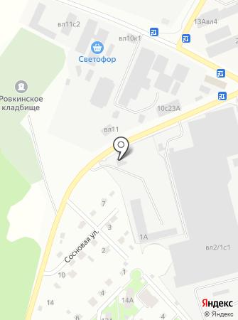 Автомойка на Сосновой на карте