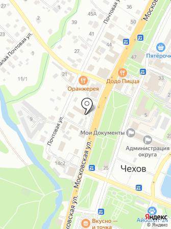 Шиномонтажная мастерская на Московской на карте