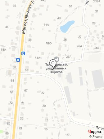 Молодинское на карте