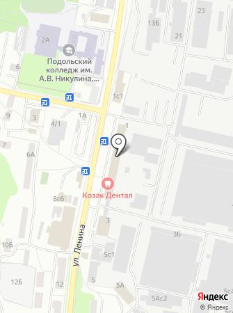Климовский на карте