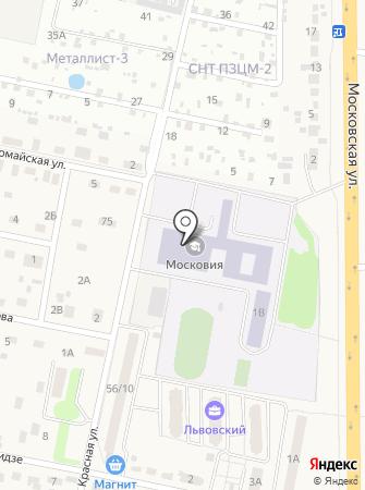 Московье на карте