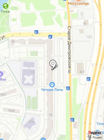 Стильный город на карте