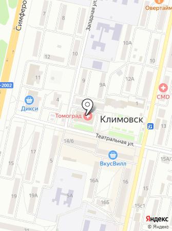 Совет депутатов городского округа Климовск на карте