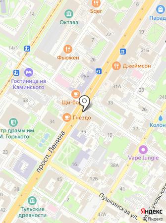 QLiNE на карте