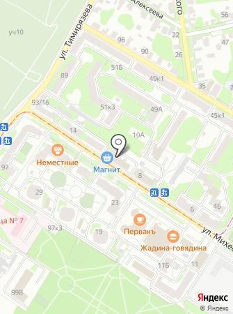 Адвокатское бюро Советского района города Тулы на карте