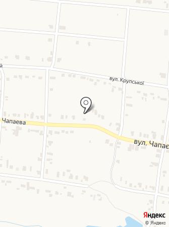 Продуктовый магазин на ул. Чапаева на карте