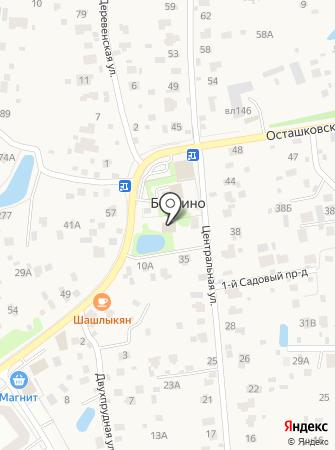 Бородино на карте