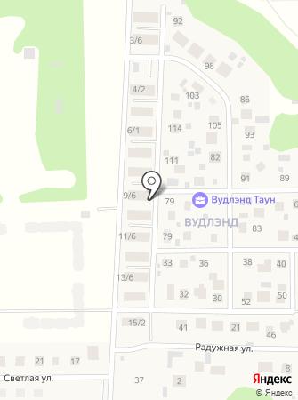 Вудлэнд таун на карте
