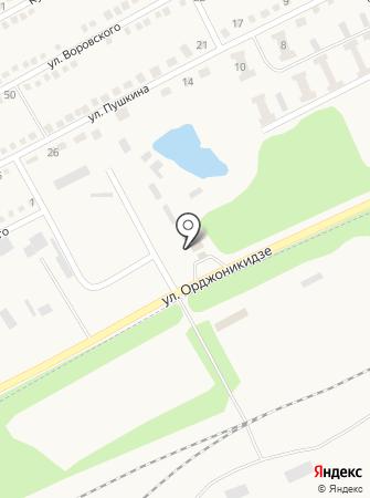 Автомойка на ул. Орджоникидзе на карте