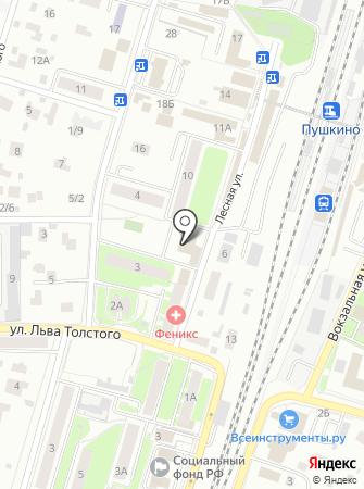 Судебная лаборатория г. Пушкино на карте